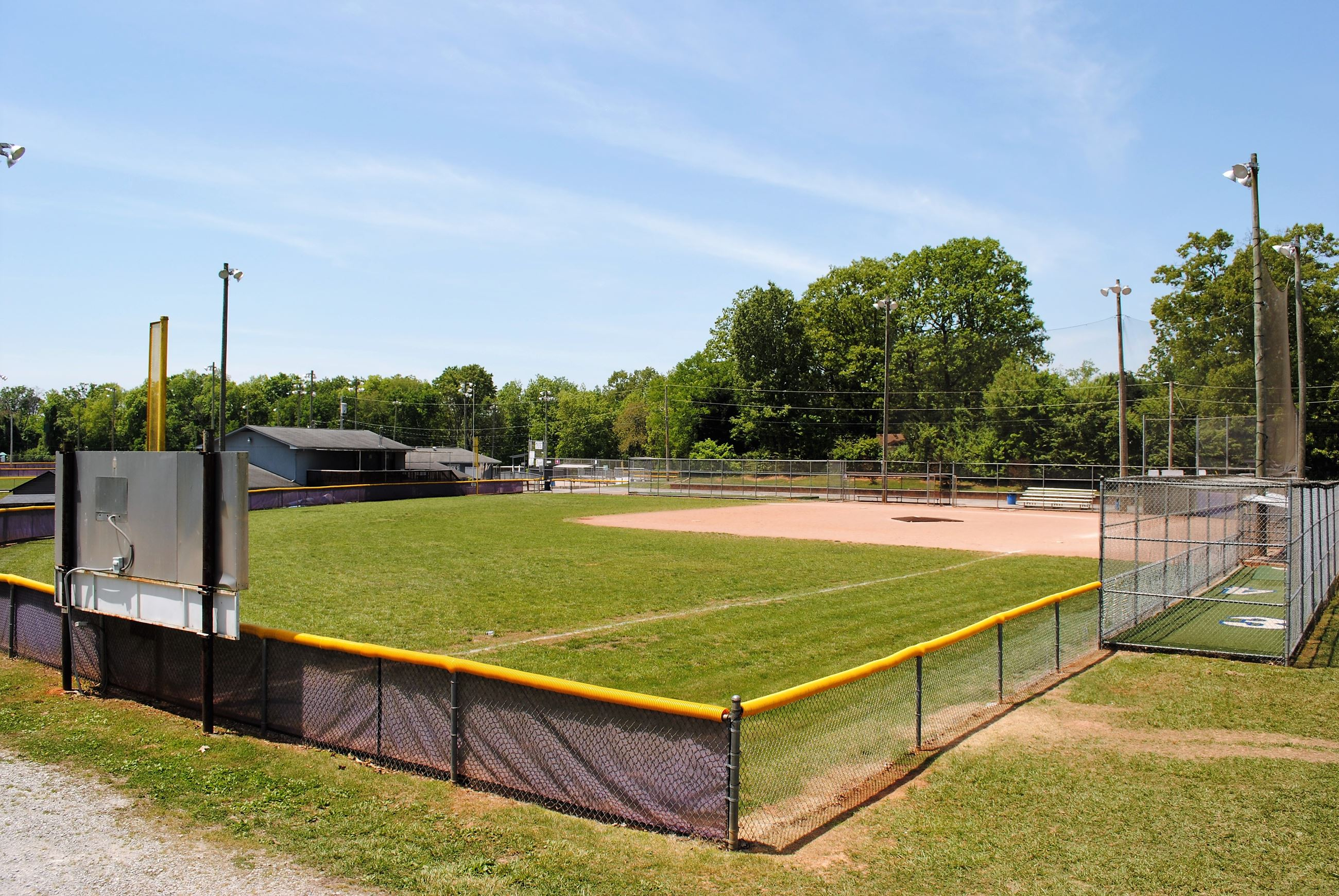 Harrison Recreation Baseball Field and bating cages