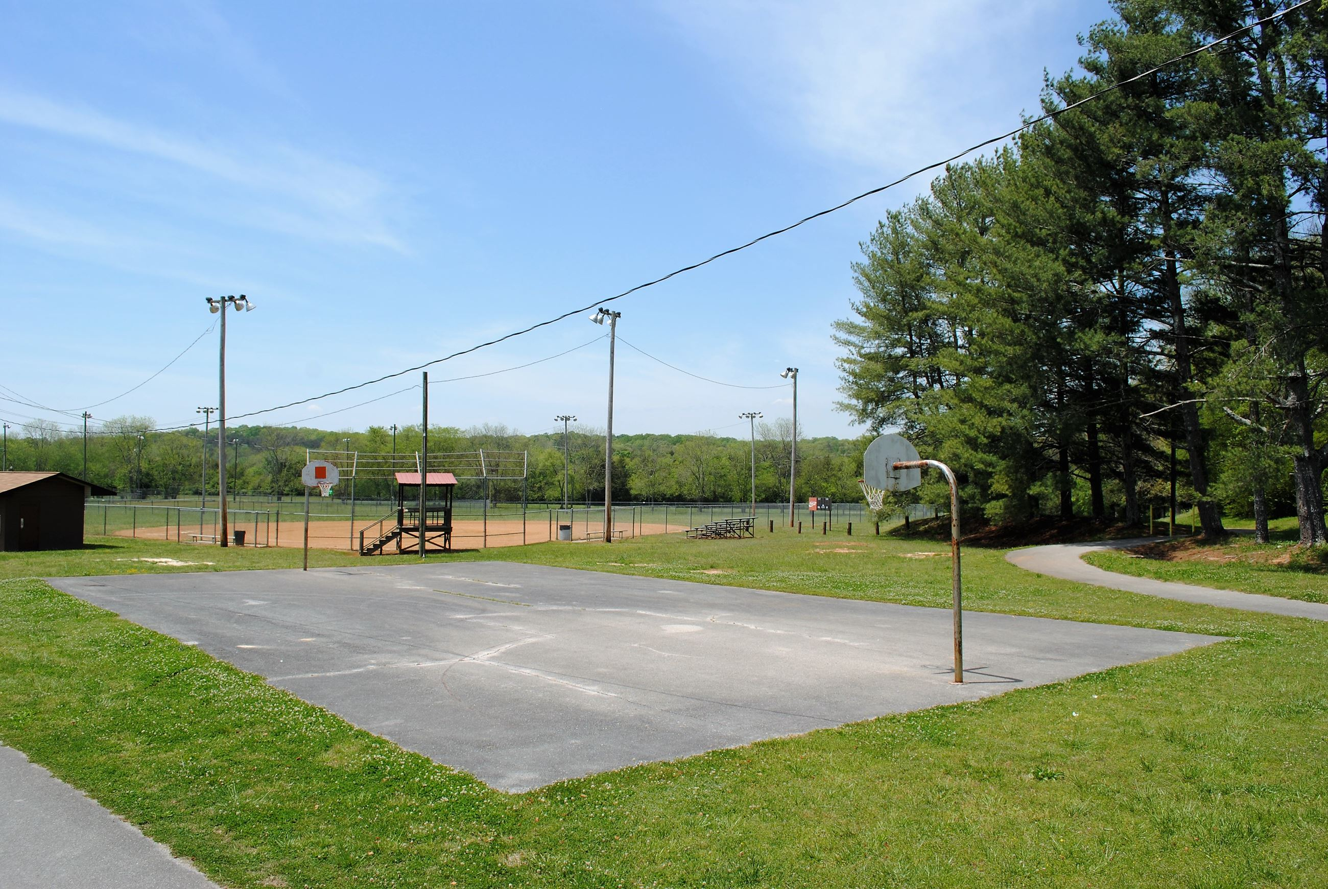 Meadowview Park Basketball Court, Baseball Field, Walking Track