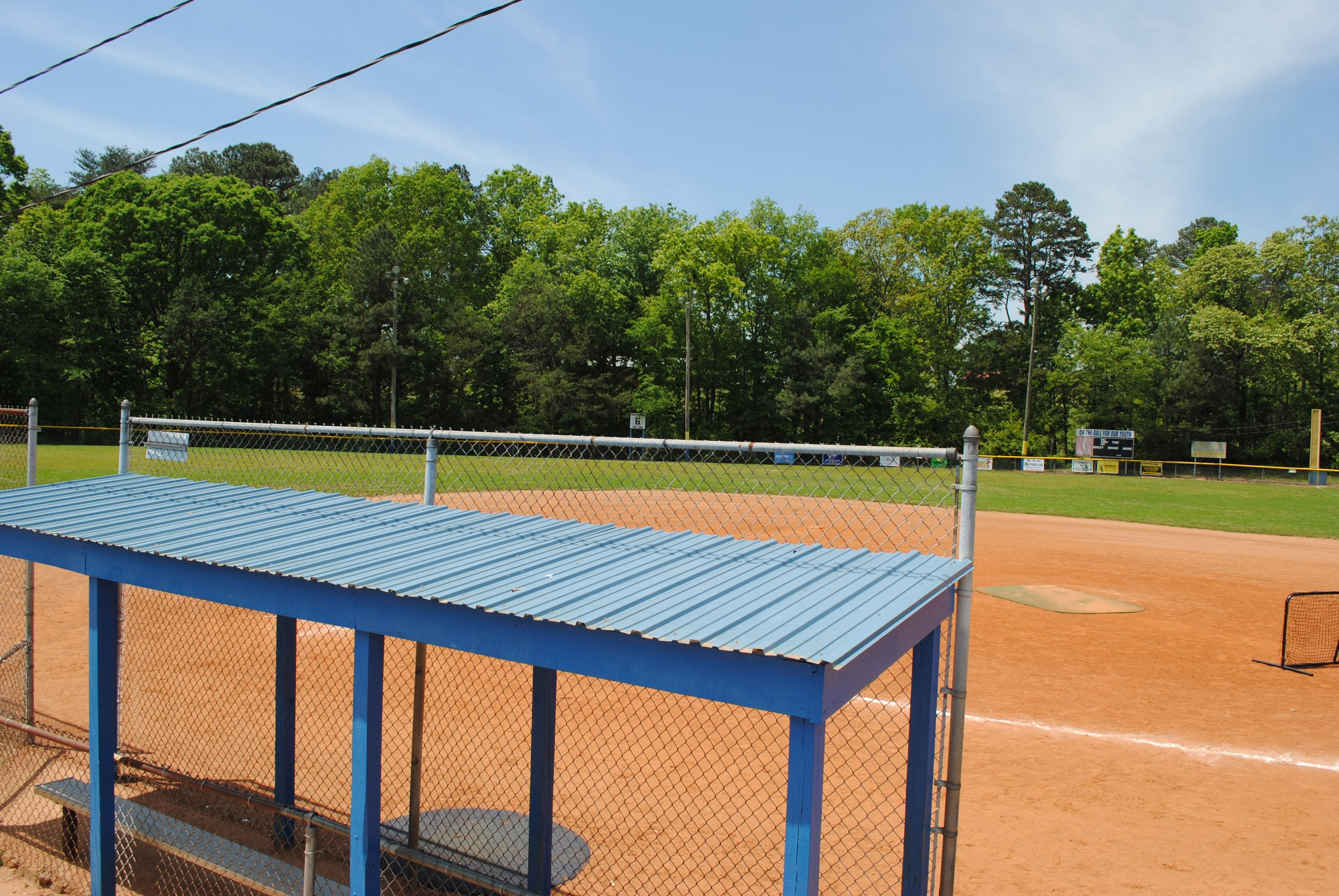 Snowhill Recreation Baseball  Field on top of hill