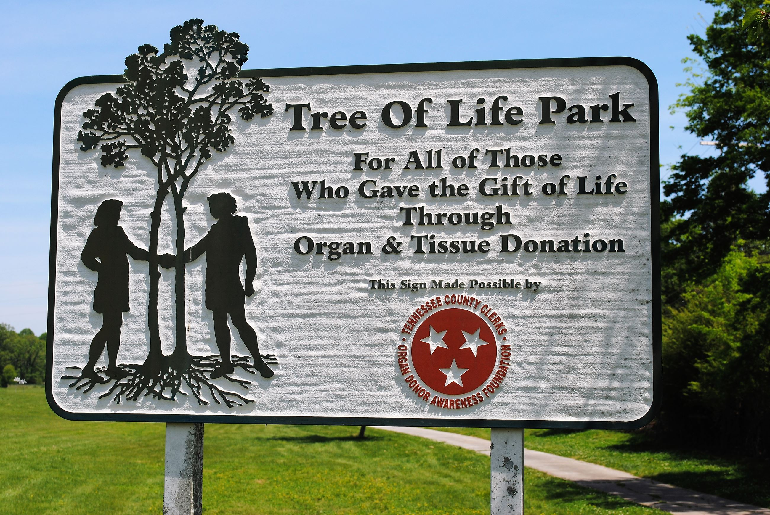 Tree of Life Park sign