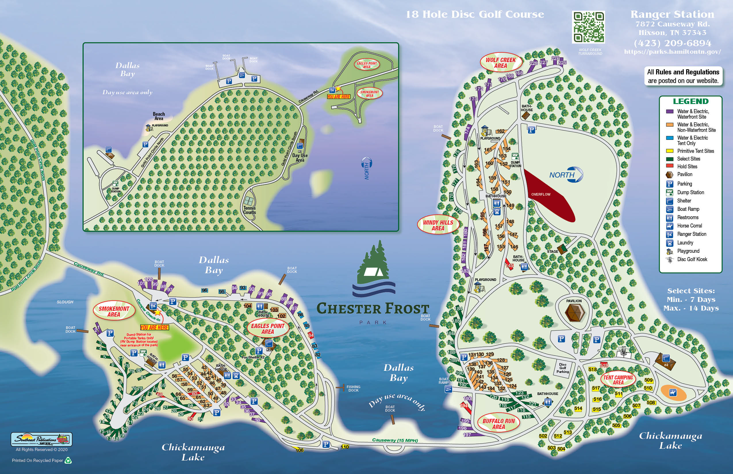 Chester Frost park map